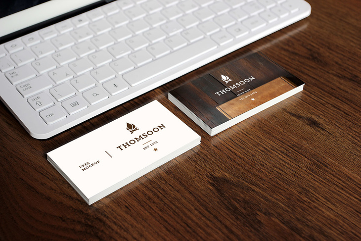 Business Card Tablet Free Mockup