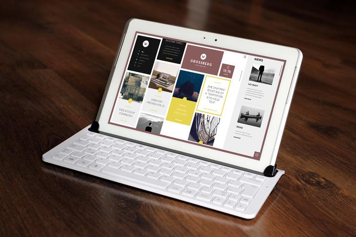 Business Card Tablet Free Mockup