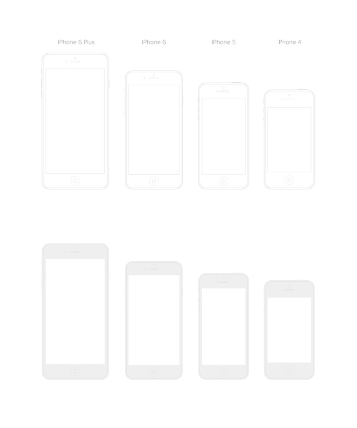 iPhone Vector Templates