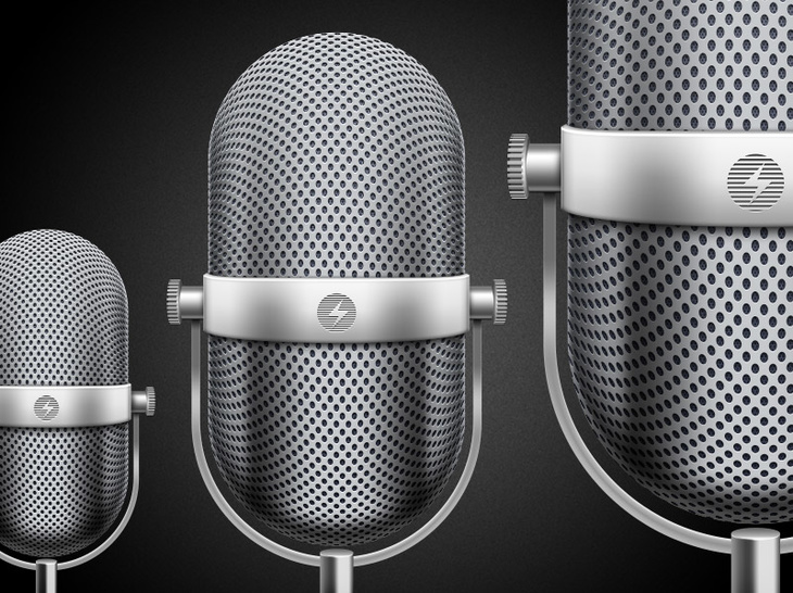Retro Microphone PSD