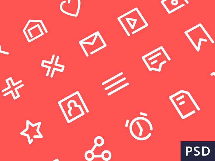 20 Free PSD Icons