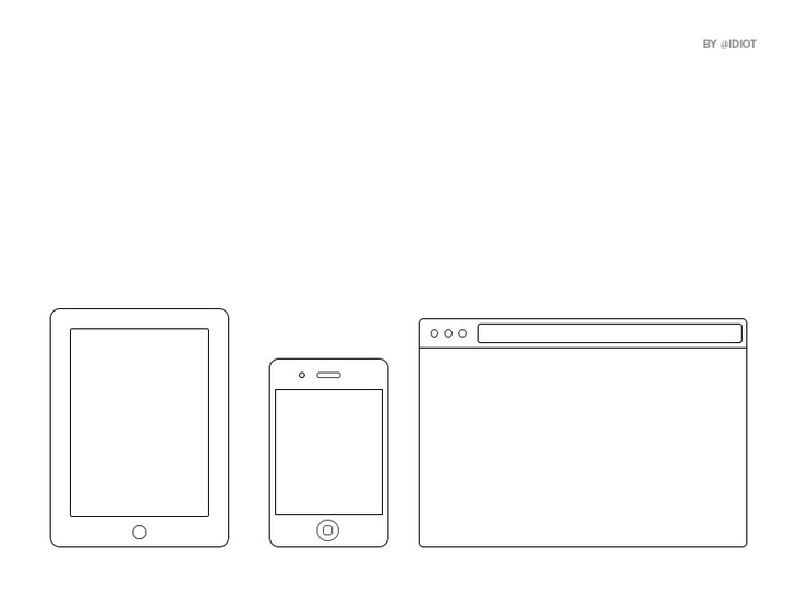 Minimal iOS & Browser Frames