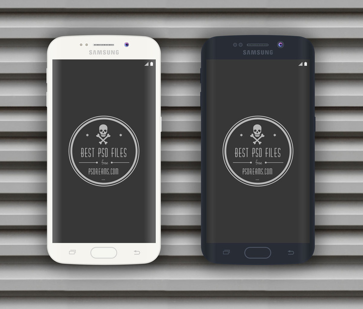 Black and White Samsung Galaxy S6 Edge PSD