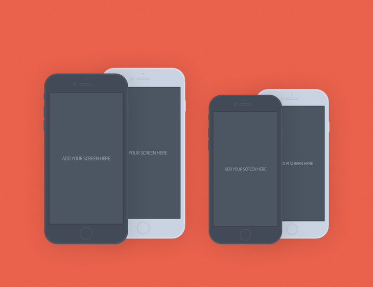 iPhone 6 Plus Flat Mockup