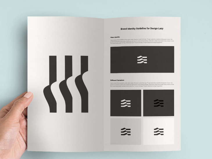 Design Brochure Mockup Photoshop File