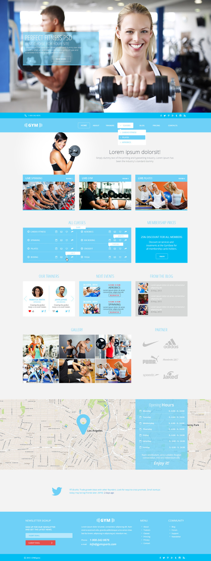 gym sports free psd template free psd file