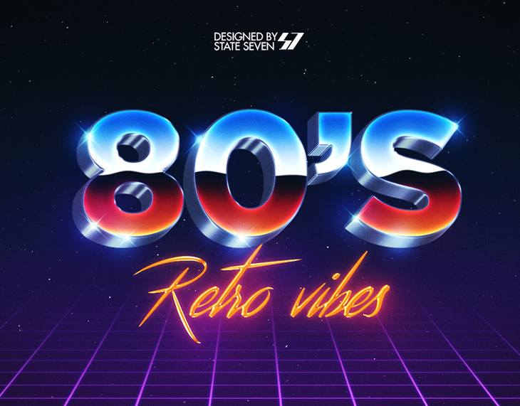 80's Style Text Eeffect