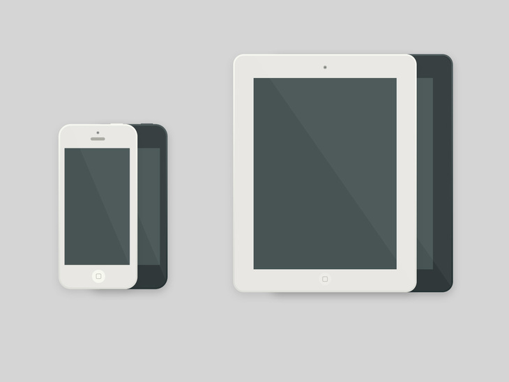 iPad & iPhone Icons PSD