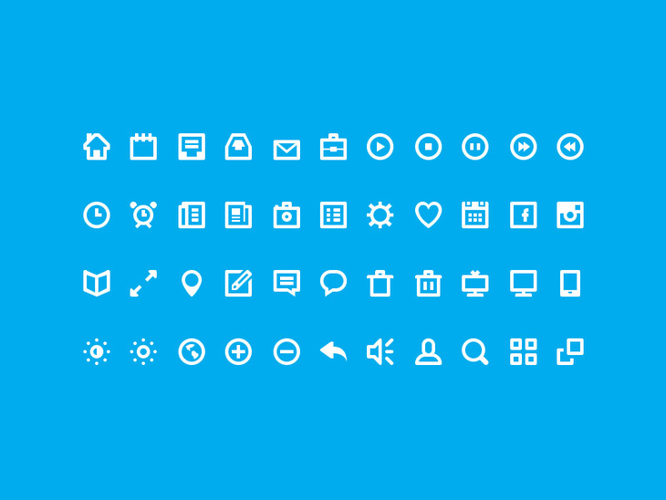 44 Simple Icons