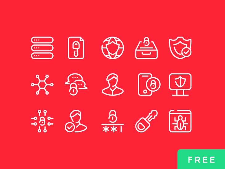 15 Cyber Security Icons