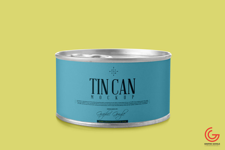 Tin Can PSD Mockup
