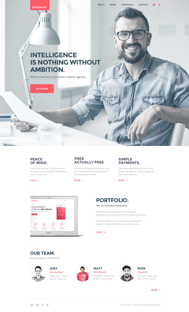 Freelancer Minimal Template