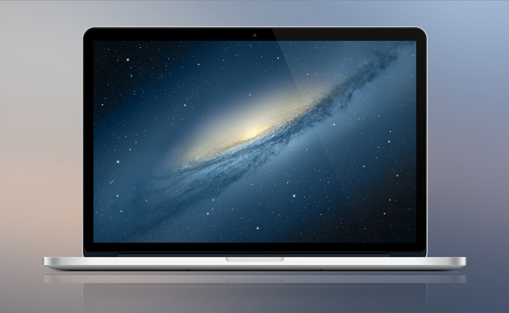 MacBook Pro Retina PSD