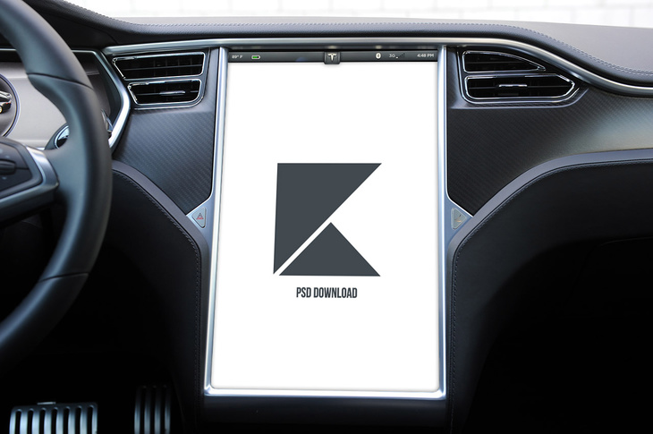 Tesla Model S Touchscreen Display Mockup