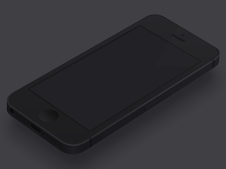 Minimal Black iPhone Template