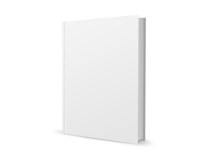 Book Cover Template Psd Free : Blank book template psd free file