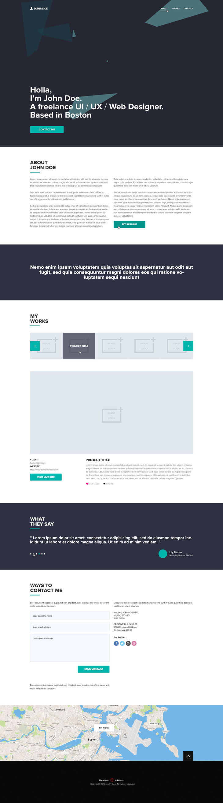 Free One Page PSD