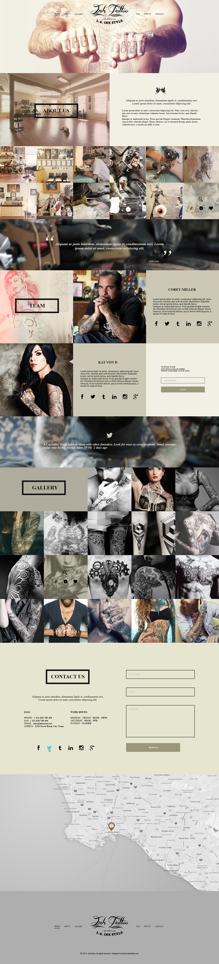 Free PSD One Page Template