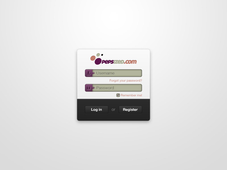 PSD Login Form