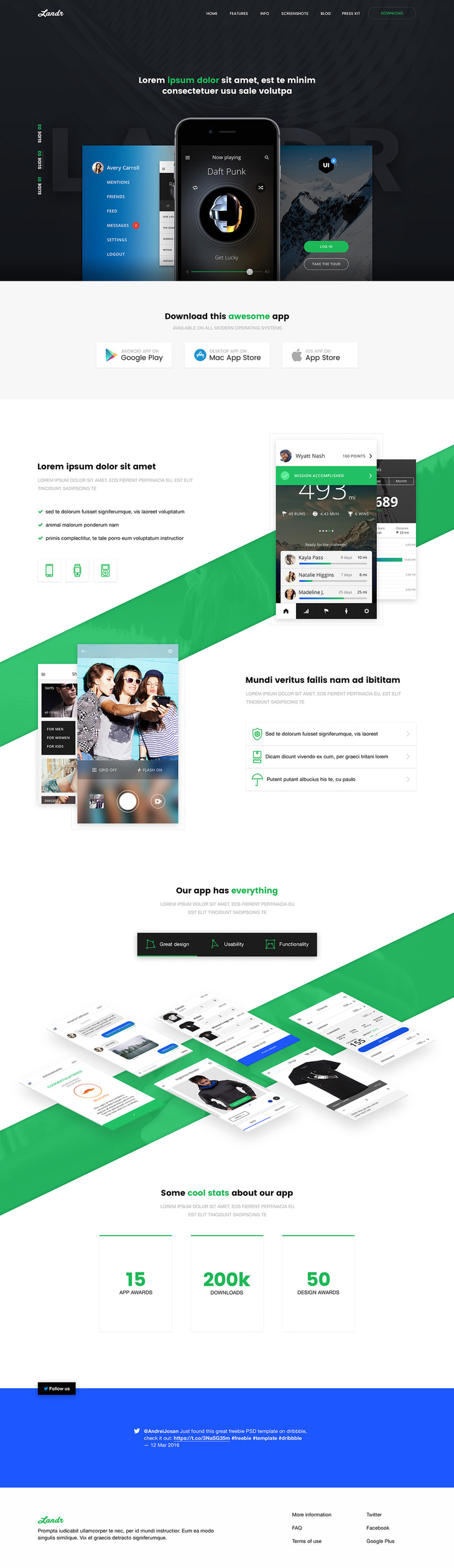 Free Web and Mobile PSD Template