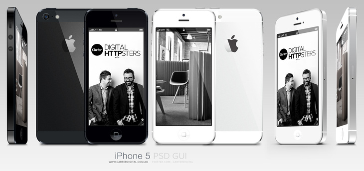 Free Vector iPhone 5 PSD