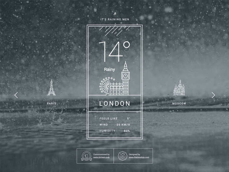 Free Weather PSD
