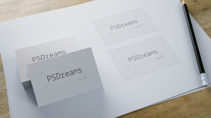 Business Card Mockup Free PSD