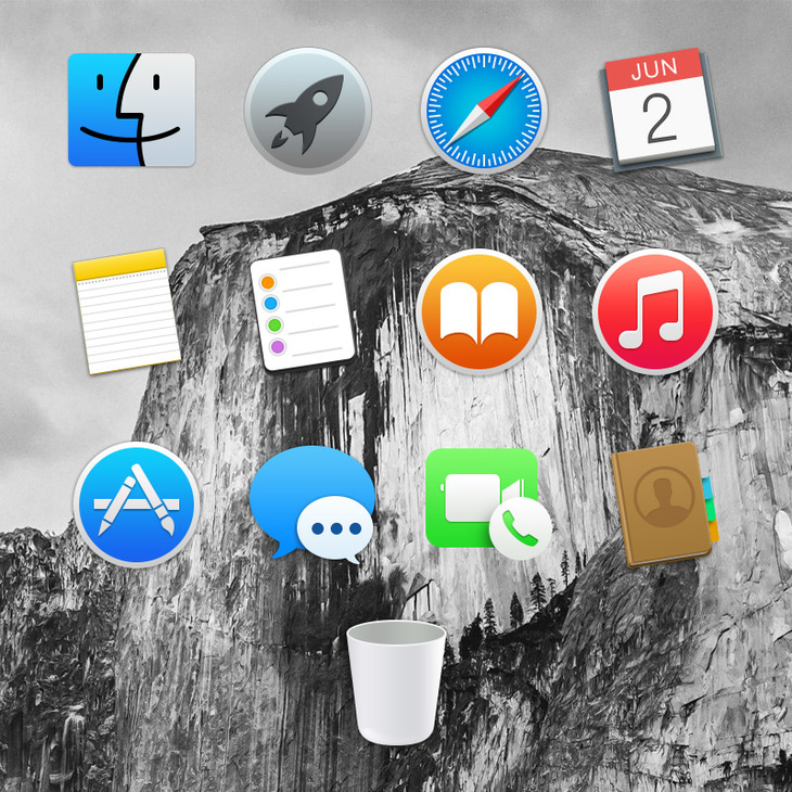 Yosemite Dock Icons
