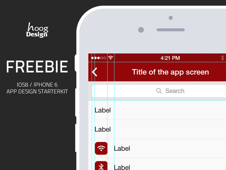 iOS8 iPhone6 PSD - App Design UI Starterkit