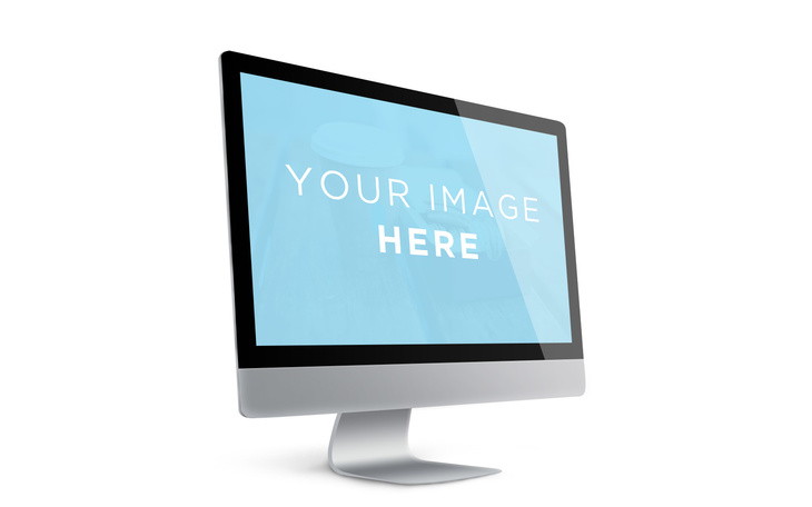 Showcase iMac Screen Template
