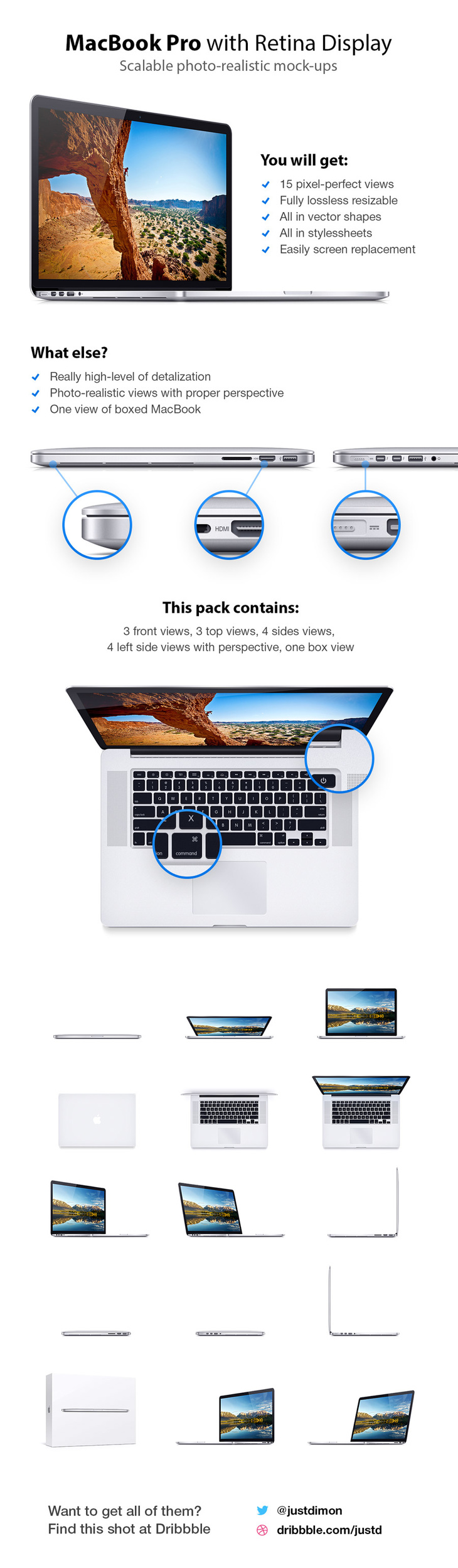 "MacBook Pro 15"" Mock-ups"