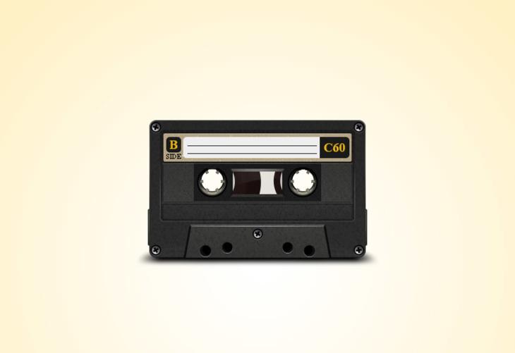 Old Cassette PSD file