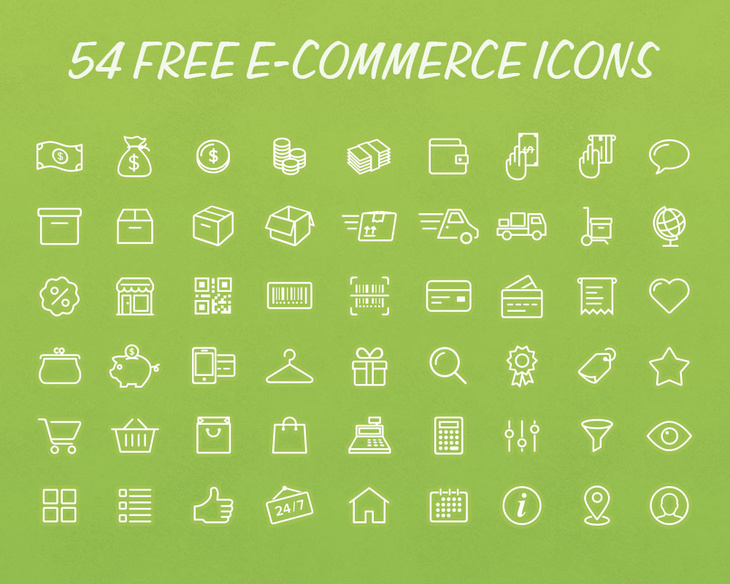 e commers icons psd