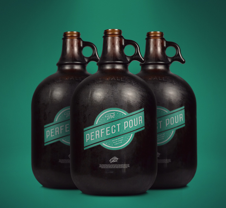 Free Gallon Growler Mock-up
