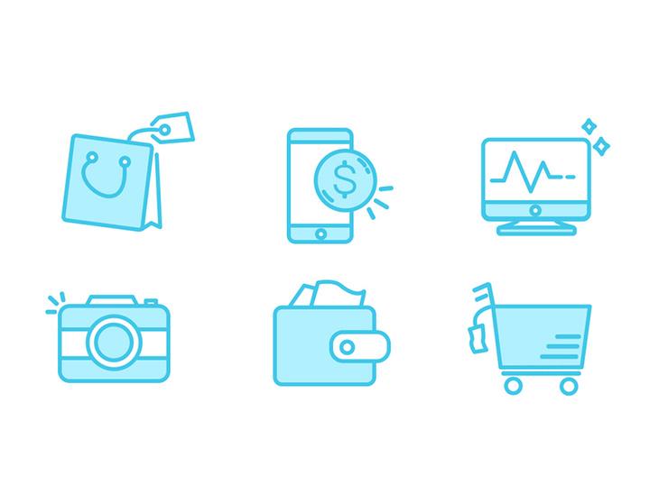 6 Line Icons