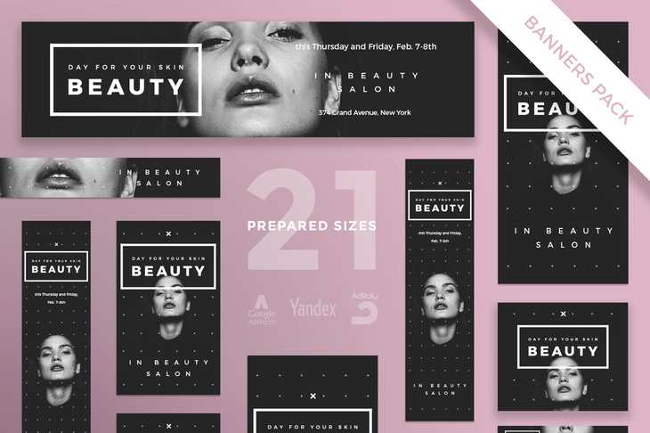 Your Skin Beauty Web Banners in all Sizes
