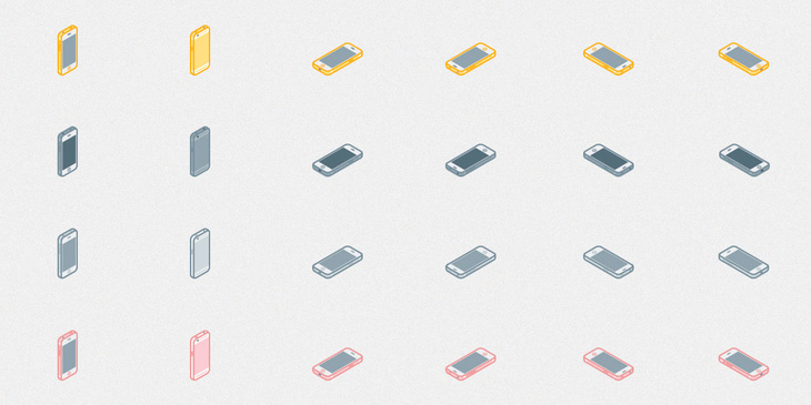 24 Isometric iPhone 6s Icons