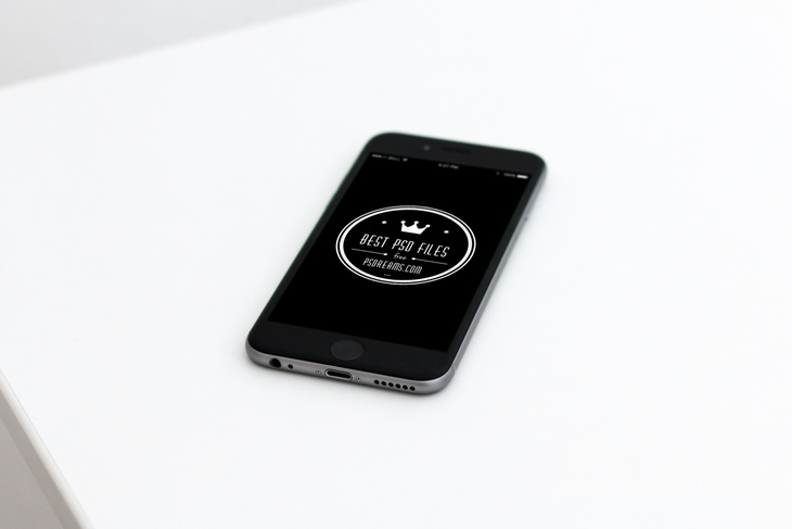 Black iPhone 6 Free Mockup