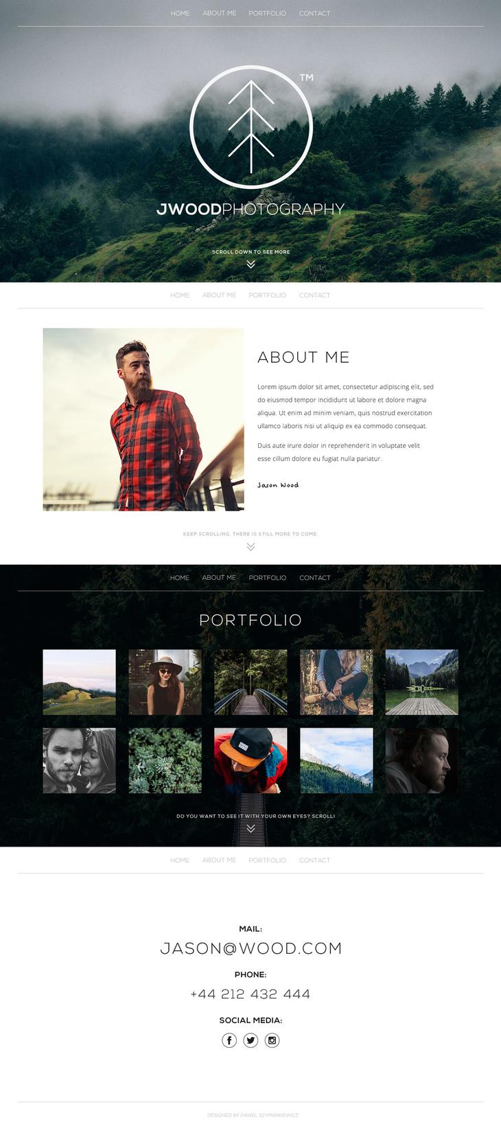PSD One Page Portfolio