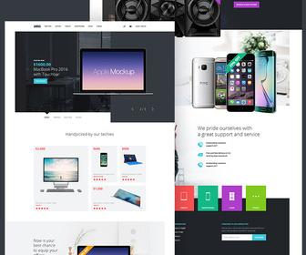 Arima Free PSD Ecommerce Landing Page
