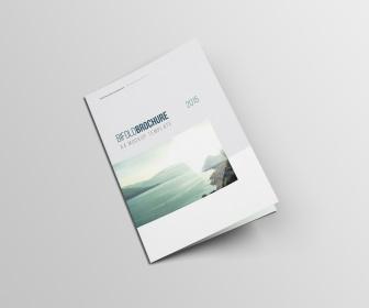 A4 Bifold Brochure Mockup