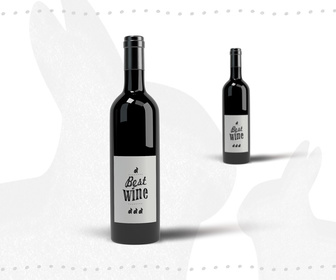 Wine Bottle PSD Mockup