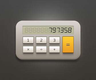 Calculator Free PSD File