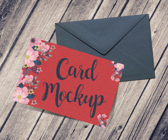 Greeting Card PSD Mockup