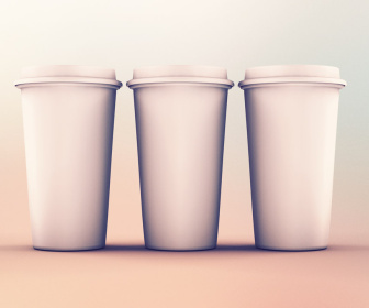 Paper Cups Mockup PSD