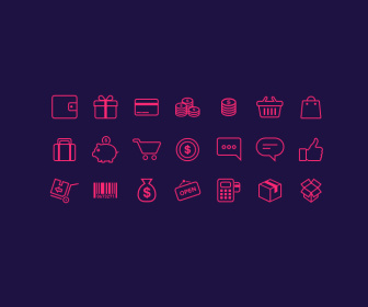 E-Commerce Outline Icons