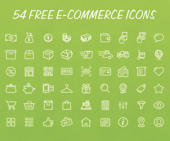 PSD e-commerce Icons Pack