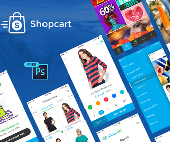 eCommerce mobile app UI