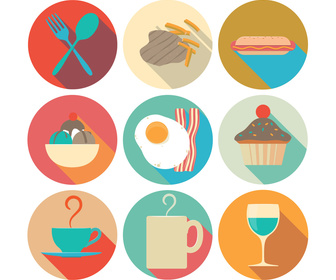 Pack of 9 Food Icons