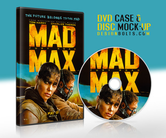 Free CD or DVD Cover PSD Mockup